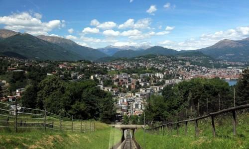 Zdjęcie SZWAJCARIA / Lugano / Monte San Salvatore / Jadąc w górę