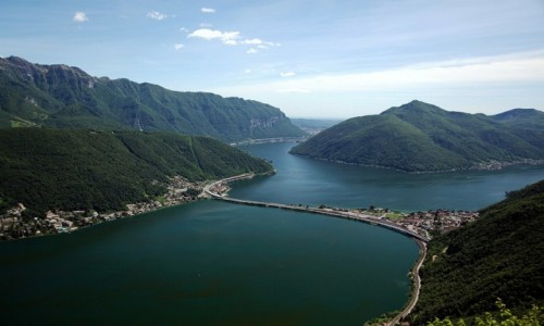 Zdjęcie SZWAJCARIA / Lugano / Monte San Salvatore / Widok