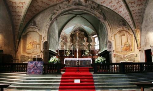 Zdjęcie SZWAJCARIA / Lugano / Promenada nad jeziorem / Kościół Santa Maria degli Angeli, ołtarz