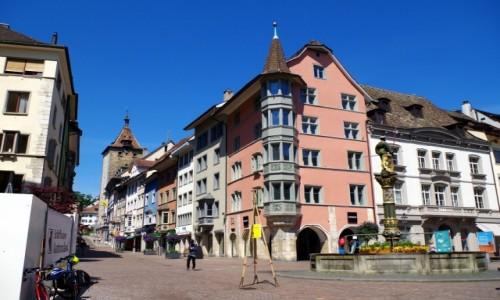 Zdjecie SZWAJCARIA / Schaffhausen / Schaffhausen /  - w centrum miasta-