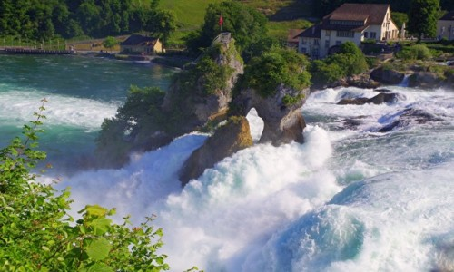 Zdjecie SZWAJCARIA / Schaffhausen / Neuhausen / - wodospad Rheinfall -