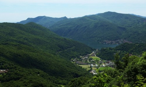 Zdjęcie SZWAJCARIA / Lugano / Monte San Salvatore / Osada