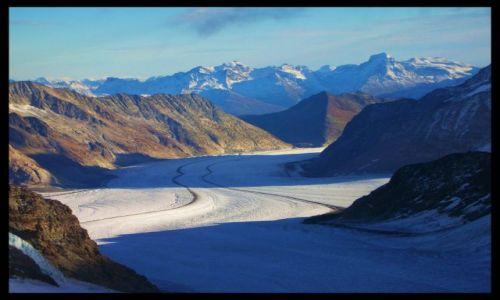 SZWAJCARIA / wallis / szczyt jungfraujoch / lodowiec aletsch