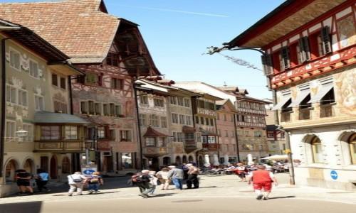 Zdjecie SZWAJCARIA / kanton Schaffhausen / Kamień nad Renem / Stein aim Rhein