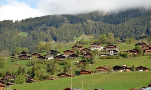 Zdjecie SZWAJCARIA / Alpy / Miasteczko Grund / Alpy Berneńskie