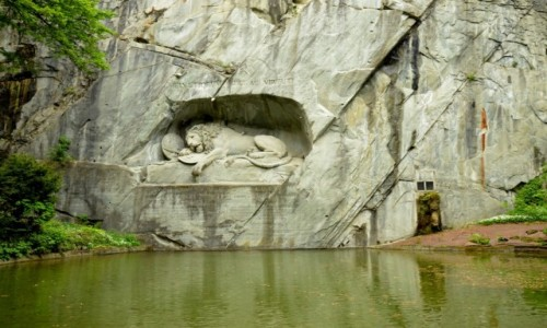 Zdjecie SZWAJCARIA / kanton Lucerna / Lucerna / Lew symbolizujący gwardzistów Lucerny