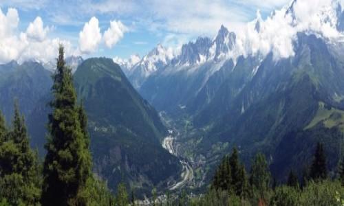 Zdjecie SZWAJCARIA / Alpy / Les Houches / Aiguille du Midi i oczywiście Mont Blanc