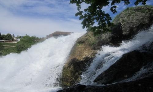 Zdjecie SZWAJCARIA / Schaffhausen / Neuhausen am Rheinfall / Wodospad Rheinfall na przełomie Renu 2