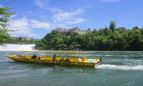 Zdjecie SZWAJCARIA / Schaffhausen / Neuhausen am Rheinfall / Wodospad Rheinfall na przełomie Renu 3