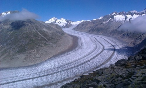Zdjecie SZWAJCARIA / Alpy Berneńskie / Lodowiec Aletschgletscher / Górskie rejony