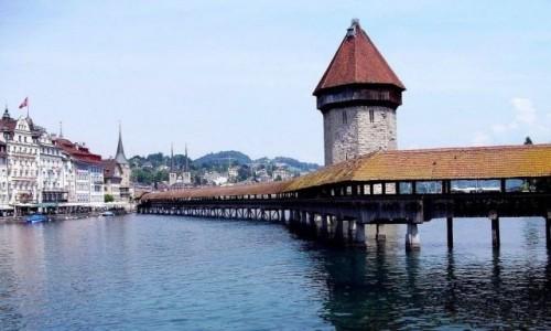 Zdjecie SZWAJCARIA / Jezioro Czterech Kantonów / Lucerna / Most Kapliczny - Lucerna (Szwajcaria)