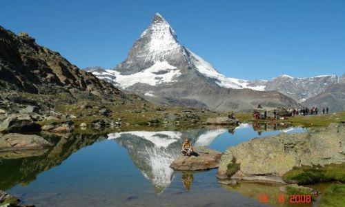 Zdjecie SZWAJCARIA / Riffelsee / Alpy Szwajcarskie / Materhorn...