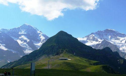 Zdjecie SZWAJCARIA / Oberland / Mannlichen 2230 m n.p.m / lato czy zima ?
