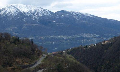 Zdjęcie SZWAJCARIA / Verzasca / tama / z tamy na Logo Maggiore