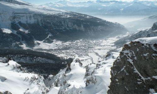 Zdjecie SZWAJCARIA / Valais / widok na Leukerbad z 2346 m n.p.m. / Moje wedrowanie