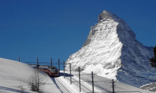 Zdjecie SZWAJCARIA / Wallis / Zermatt / Kolejka górska na Gogrengrat