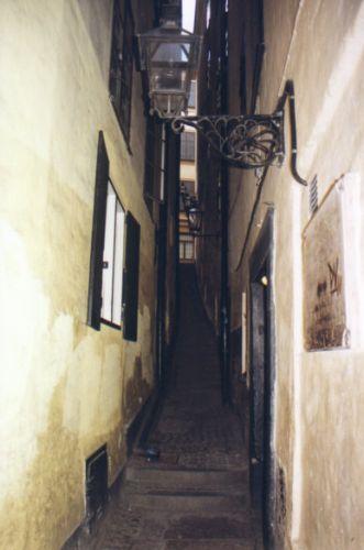 Zdjęcia: Sztokholm, Uliczka na Starym Miescie, SZWECJA