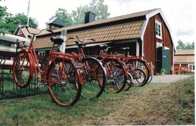 Zdjęcia: skansen młynarza, południowo-zachodnia szwecja,  rowerki, SZWECJA