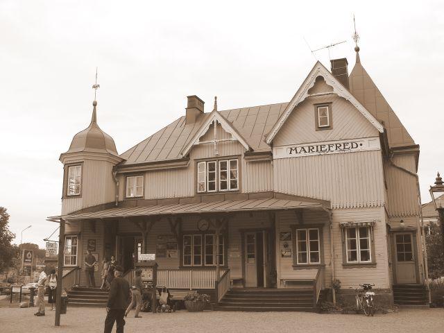 Zdjęcia: Mariefred, południowa Szwecja, Na stacji1, SZWECJA