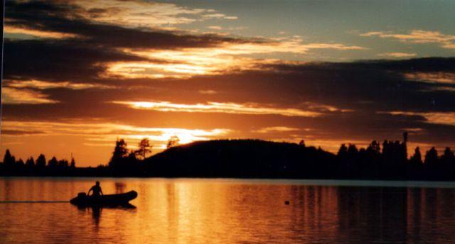 Zdjęcia: Storuman, Skandynawia, Zachód słońca 04, SZWECJA