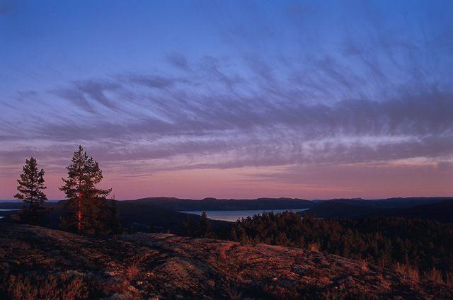 Zdjęcia: Skuleskogen National Park, wybrzeże Szwecji, Koniec dnia na Skuleberget, SZWECJA
