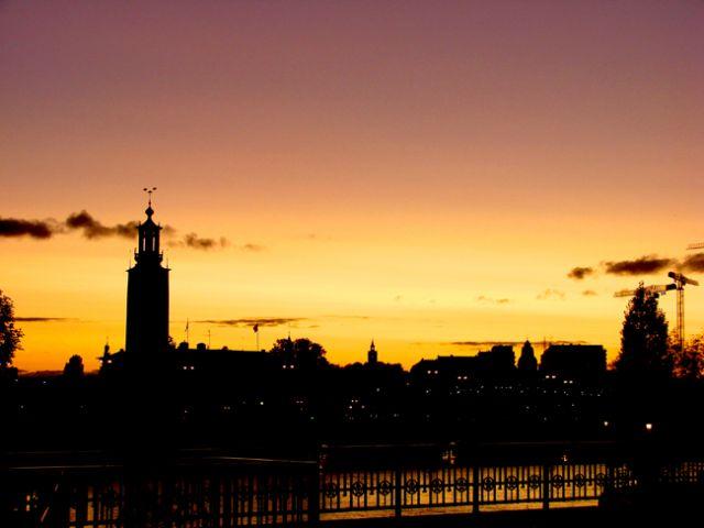 Zdjęcia: Sztokholm, Sztokholm, zmierzch, SZWECJA