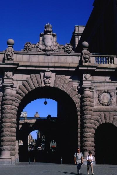 Zdjęcia: Sztokholm, brama na główny deptak - Drottningg, SZWECJA