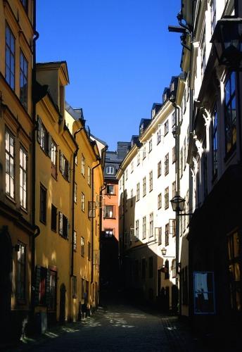 Zdjęcia: Sztokholm, Gamla Stan - jedna z uliczek, SZWECJA