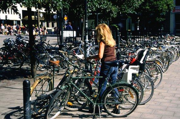 Zdjęcia: Sztokholm centrum, rowery, rowery, rowery, SZWECJA