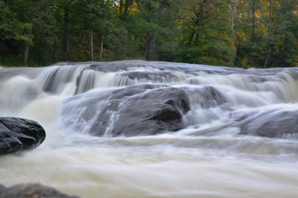 Zdjęcia: rzeka Morrum, kraina łososia, Wodospad , SZWECJA