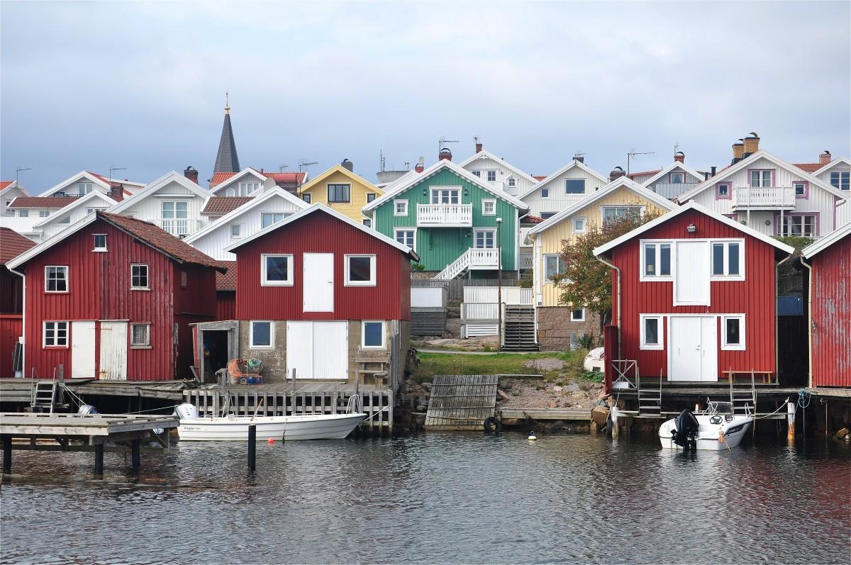 Zdjęcia: Smögen, Szwecja zachodnia, Architektura Smögen, SZWECJA