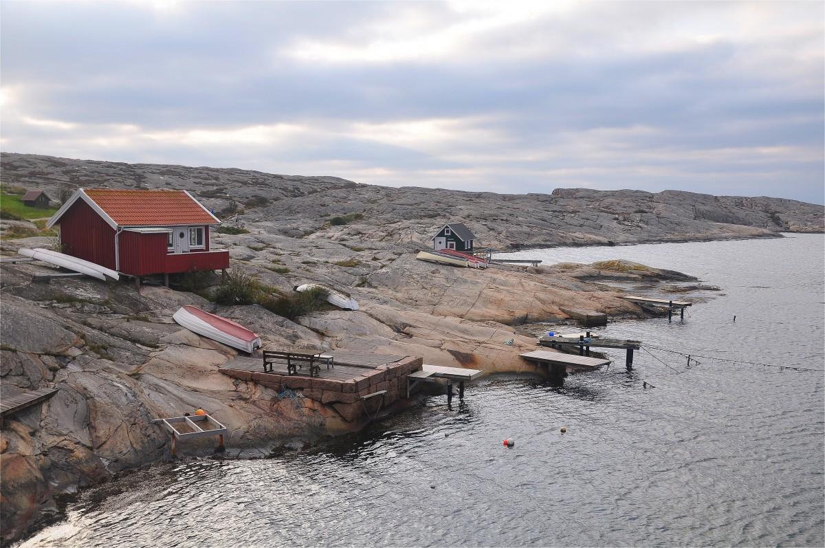 Zdjęcia: Smögen, Vastra Gotaland, Chaty rybackie, SZWECJA