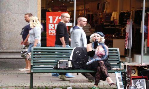 Zdjecie SZWECJA / Malmo / W uliczkach / Marylin w Szwecji live