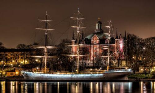 Zdjecie SZWECJA / Stockholm / Stockholm / Stockholm by night
