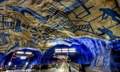 Zdjecie SZWECJA / Stockholm / Stockholm / Subway in Stockholm vol.2