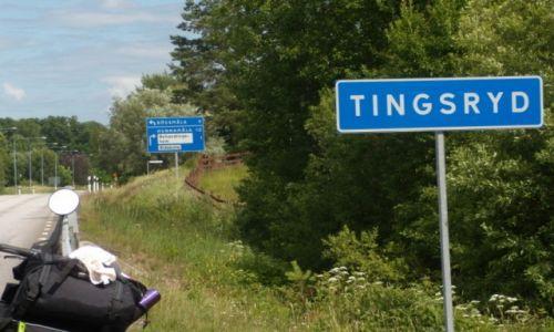 Zdjęcie SZWECJA / Kronobergs lan / Dojeżdżam do Tinsgryd / Rowerem po Szwecji