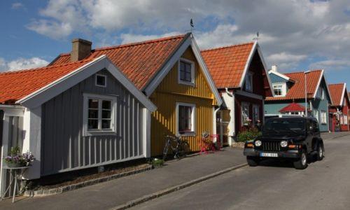 Zdjęcie SZWECJA / Blekinge / Karlskrona / Domki rybackie