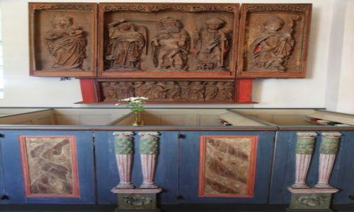 Zdjęcie SZWECJA / Skania / Gualöv / Pierwszy ołtarz (ekspozycja na ścianie)