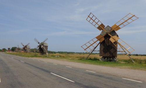 Zdjęcie SZWECJA / Olandia. / Wiatraki zbożowe. / Rowerem po Olandii, Gotlandii, Faro i Półwyspie Skandynawskim kawałek.