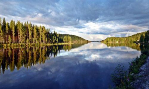 Zdjęcie SZWECJA / Vasterbotten / Okolice Lycksele-Laponia / Umealven