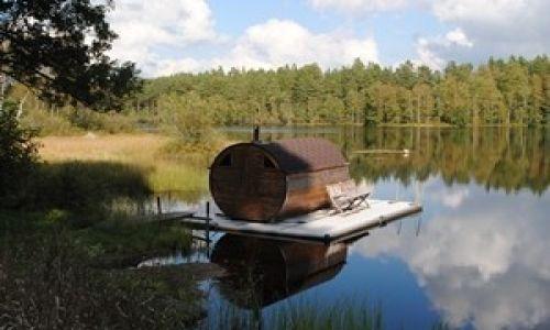 Zdjecie SZWECJA / Smolandia / Odevata Fiske Camp / Sauna w Odevata