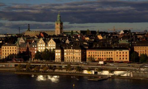 Zdjecie SZWECJA / Sztokholm / Slussen / O zachodzie