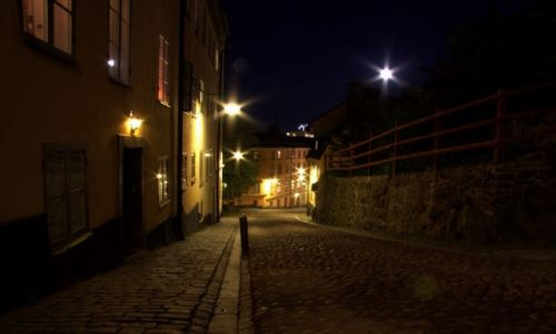 Zdjecie SZWECJA / Sztokholm / Södermalm / Nocą