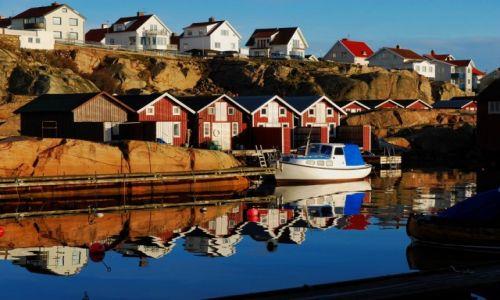 Zdjęcie SZWECJA /  półwysep Sotenas / Smögen / przy kanale