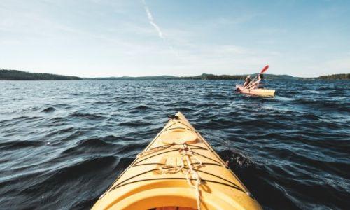 Zdjęcie SZWECJA / Bracke / Jezioro Revsundssjon / W drodze na wyspę