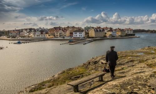 Zdjęcie SZWECJA / - / Karlskrona / Ławeczka z widokiem...