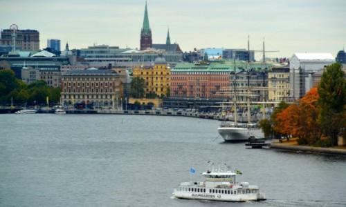 Zdjecie SZWECJA / xxx / Sztokholm / Sztokholmskie nabrzeże