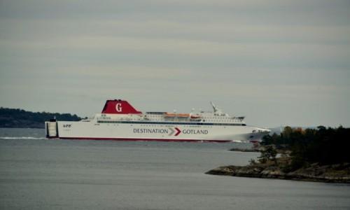 Zdjecie SZWECJA / xxx / Nynashamn / Prom na Gotlandię