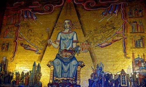 Zdjecie SZWECJA / - / Sztokholm / Obraz w złotej sali ratusza w Sztokholmie