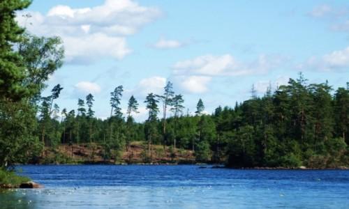 SZWECJA / Południowa Szwecja / około 200 km. od Ystad / Jedno z około 100 tysięcy szwedzkich jezior